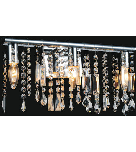 5549W18CJanine 3 Light 4 inch Chrome Vanity Light Wall Light