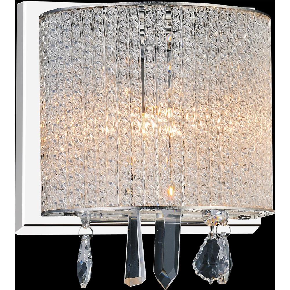 CWI Lighting 5562W8C-1 Clear Benson 1 Light Bathroom Sconce with Chrome finish