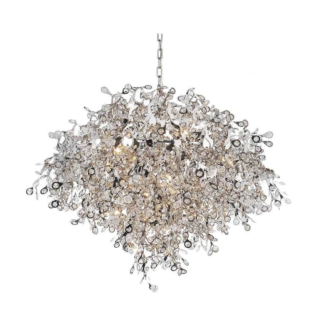 CWI Lighting 5630P35C Flurry 17 Light Down Chandelier with Chrome finish