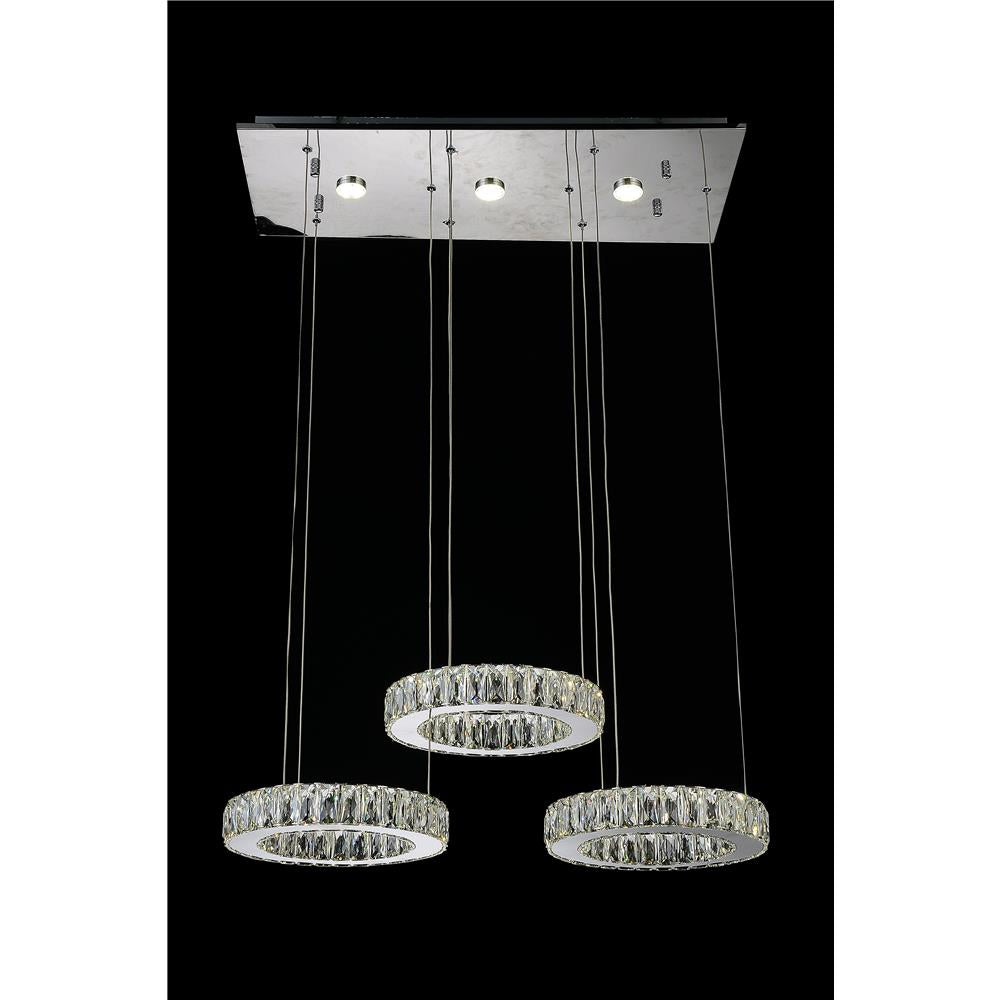 CWI Lighting 5635P27ST-RC Florence LED Chandelier with Chrome finish