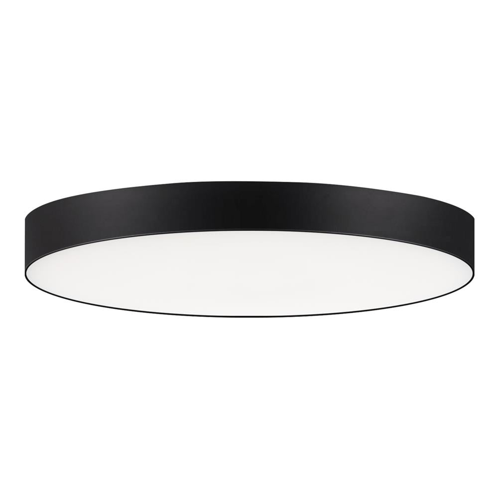 "Maxim Lighting 57662WTBK Trim 7"" RD 15W LED Flush Mount 3000K in Black"