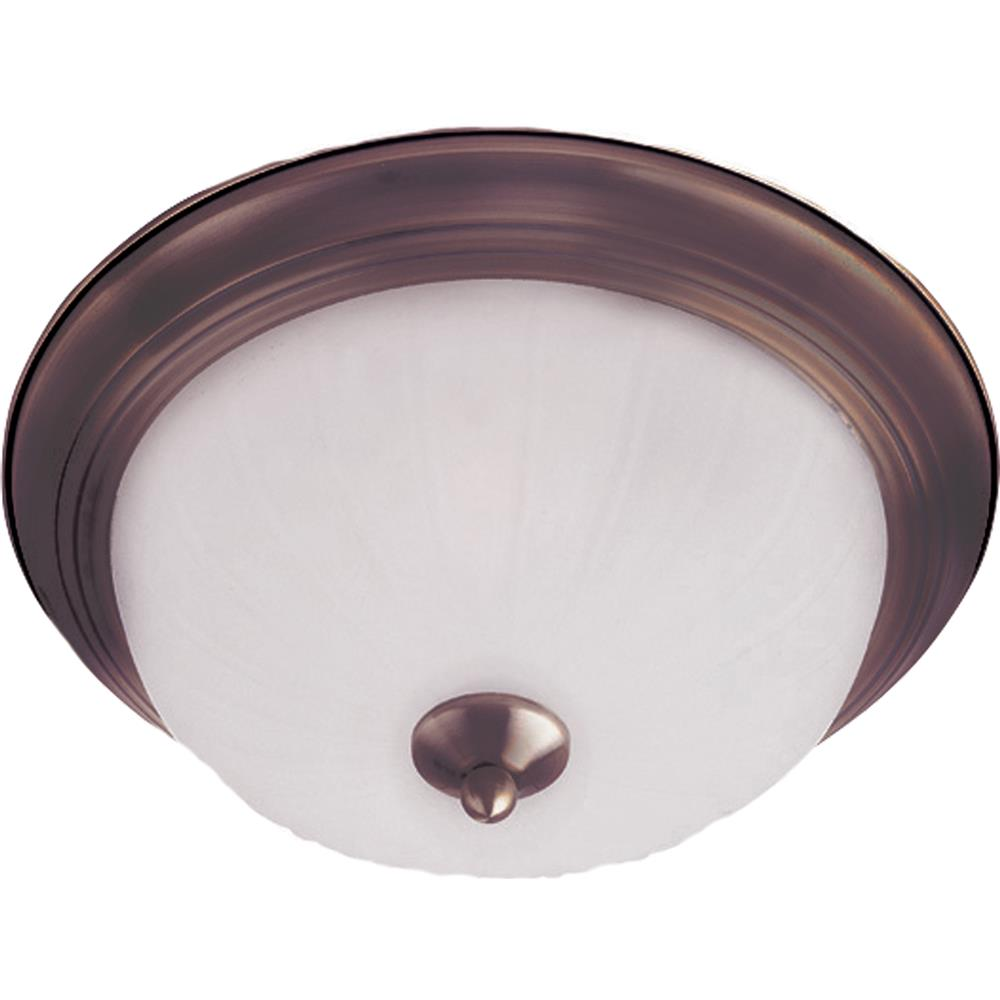 Maxim Lighting 5831FTOI Essentials 2-Light Flush Mount in Oil Rubbed Bronze