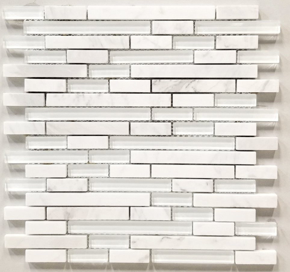 5/8 Strip Snow Kitchen Backsplash Tiles