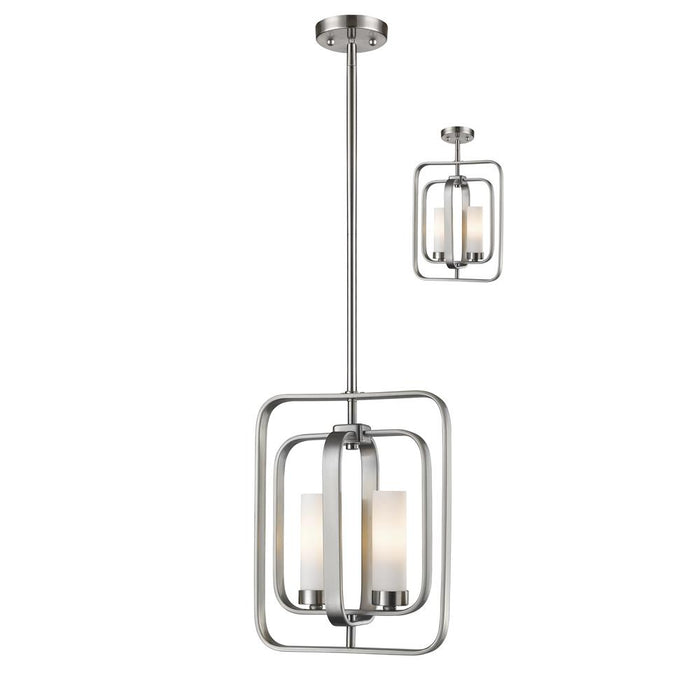 Z-Lite 6000MP-BN Aideen 2 Light Mini Pendant in Brushed Nickel