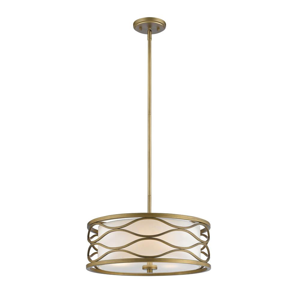 Z-Lite 615-16OG Severine 3 Light Pendant in Old Gold