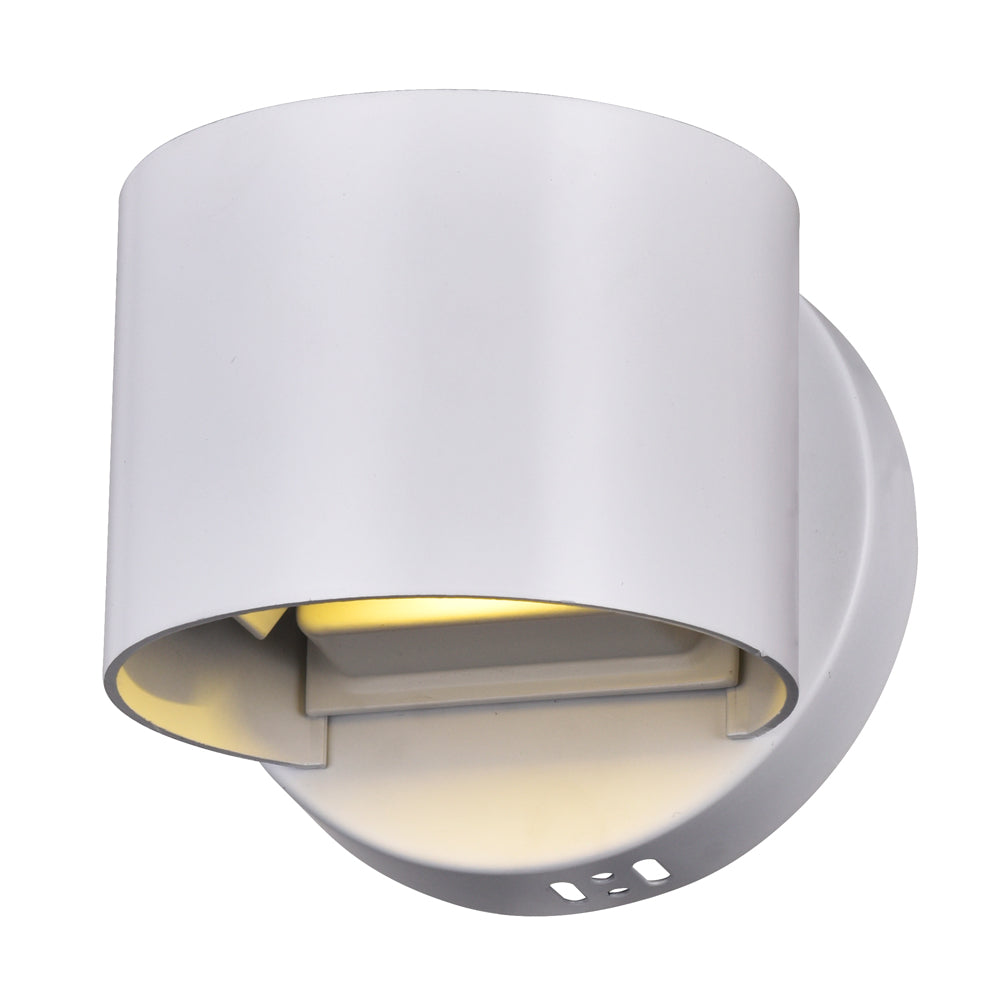 CWI Lighting 7148W5-103-R Lilliana LED Wall Sconce with White Finish