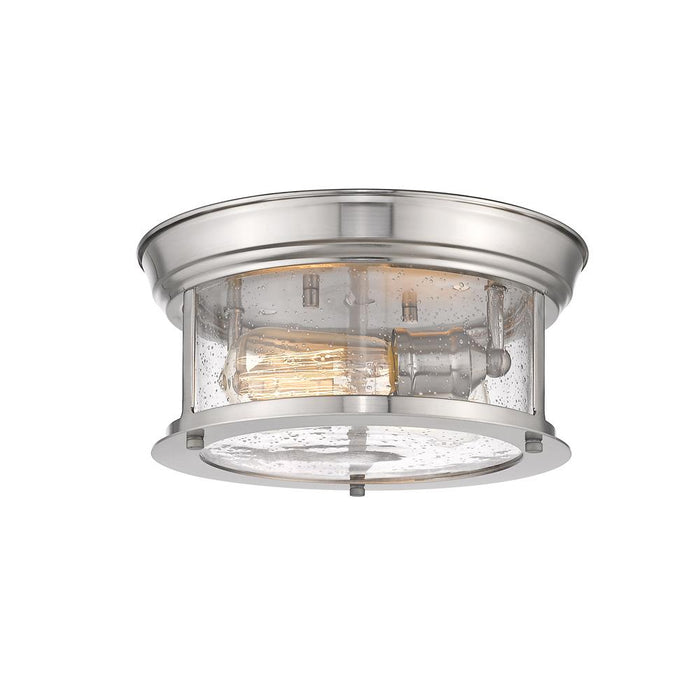 Z-Lite 727F10-BN  Brushed Nickel 2 Light Flush Mount