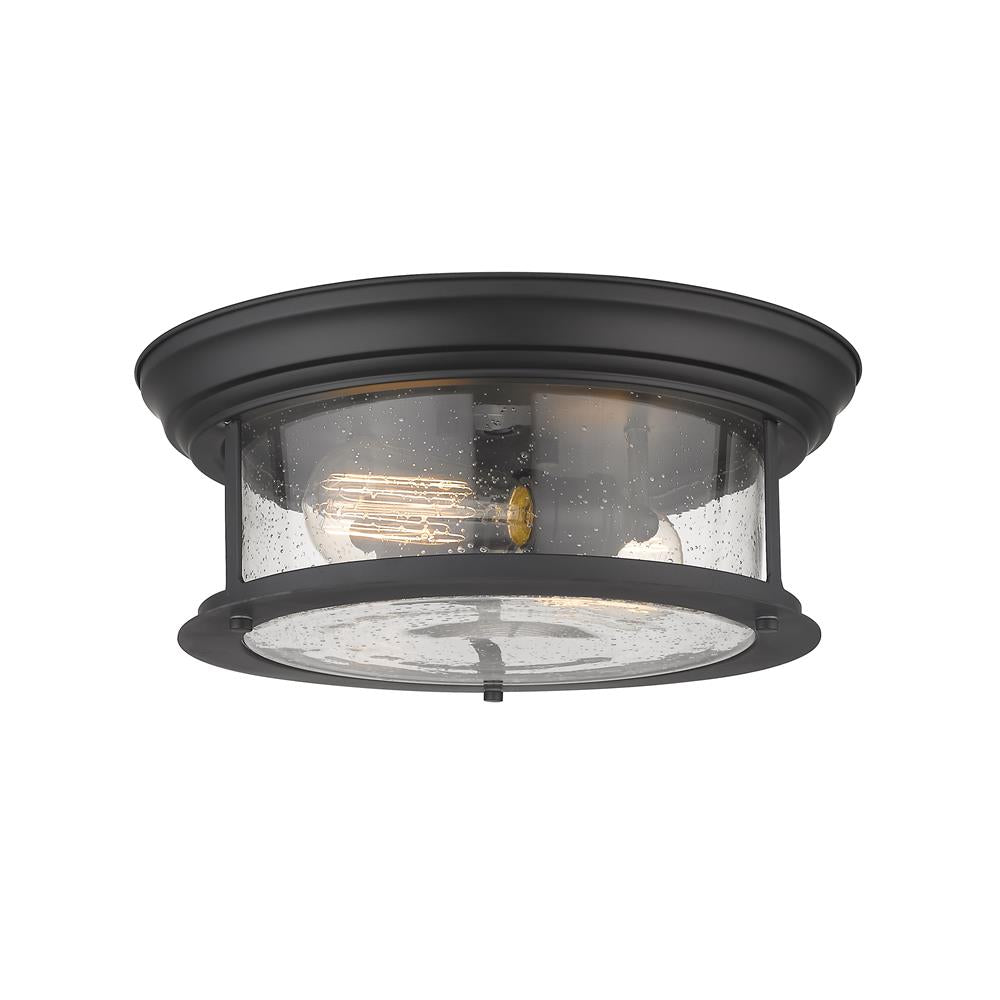 Z-Lite 727F13-MB  Matte Black 2 Light Flush Mount