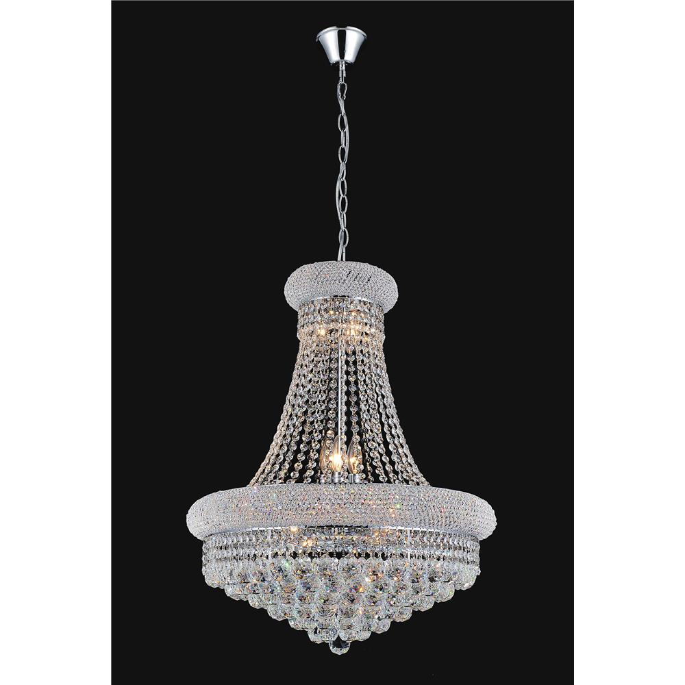 CWI Lighting 8001P20C Empire 14 Light Down Chandelier with Chrome finish
