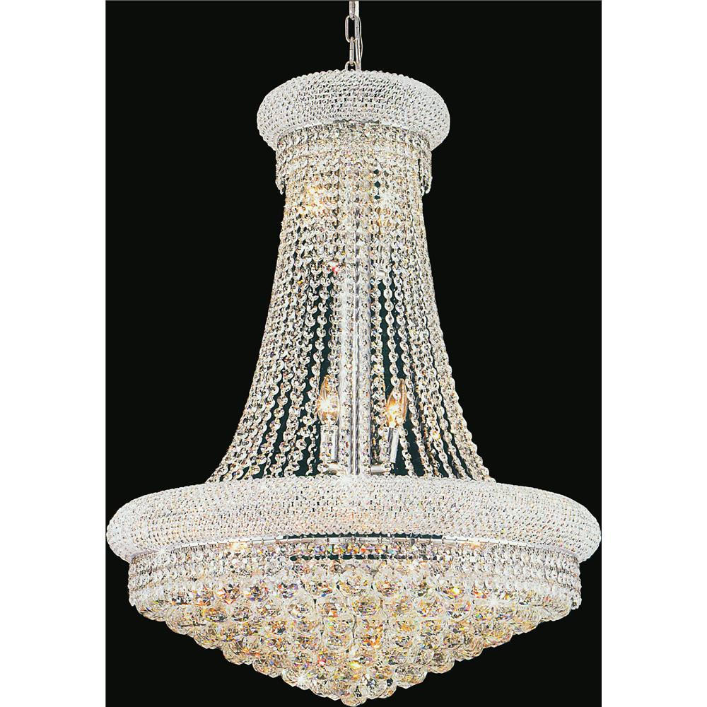 CWI Lighting 8001P24C Empire 17 Light Down Chandelier with Chrome finish