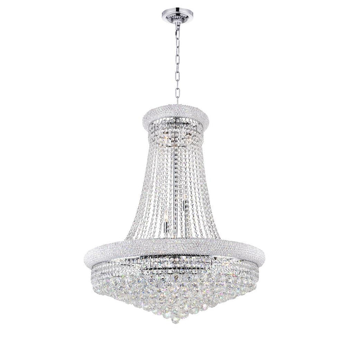 CWI Lighting 8001P32C Empire 19 Light Down Chandelier with Chrome finish