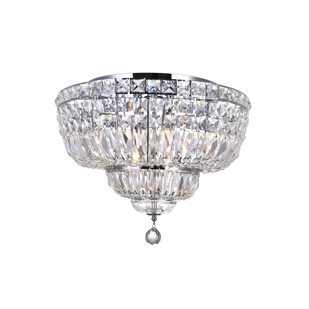 CWI Lighting 8003C20C Stefania 8 Light Bowl Flush Mount with Chrome finish