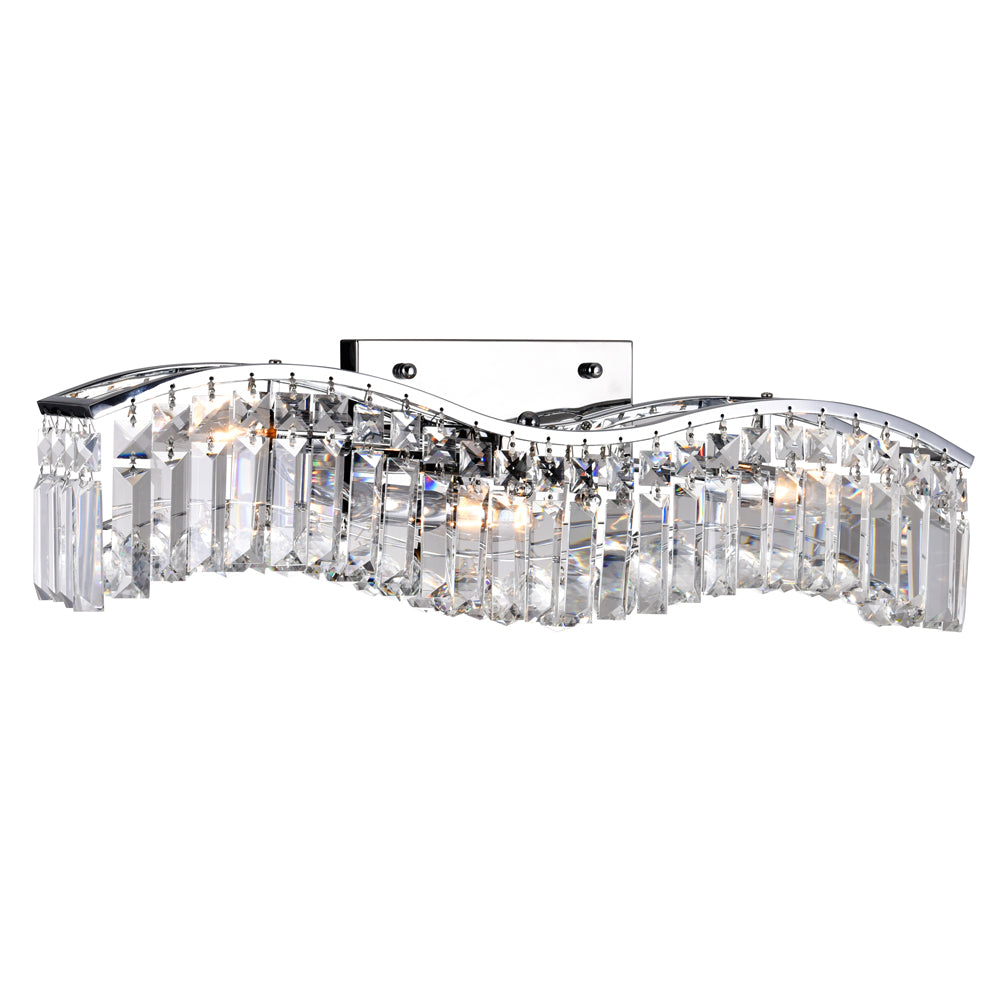 CWI Lighting 8004W25C-A (clear) Glamorous 3 Light Vanity Light with Chrome finish