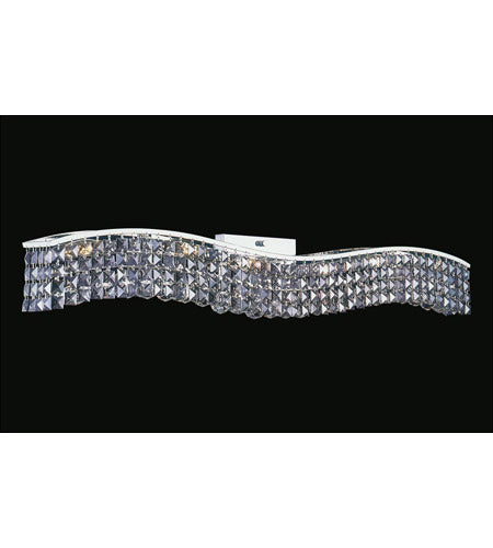 8004W44C-B (CLEAR)Glamorous 7 Light 5 inch Chrome Vanity Light Wall Light