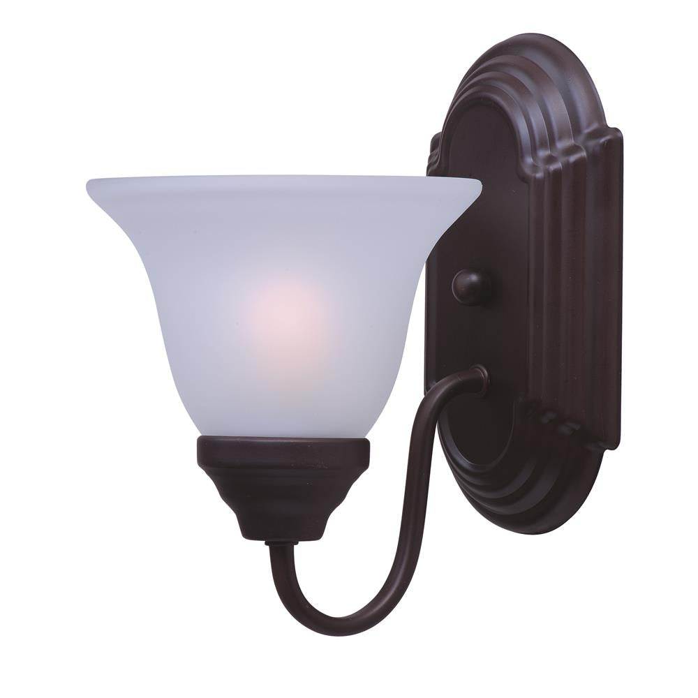 Maxim Lighting 8011FTOI Essentials 1-Light Wall Sconce in Oil Rubbed Bronze