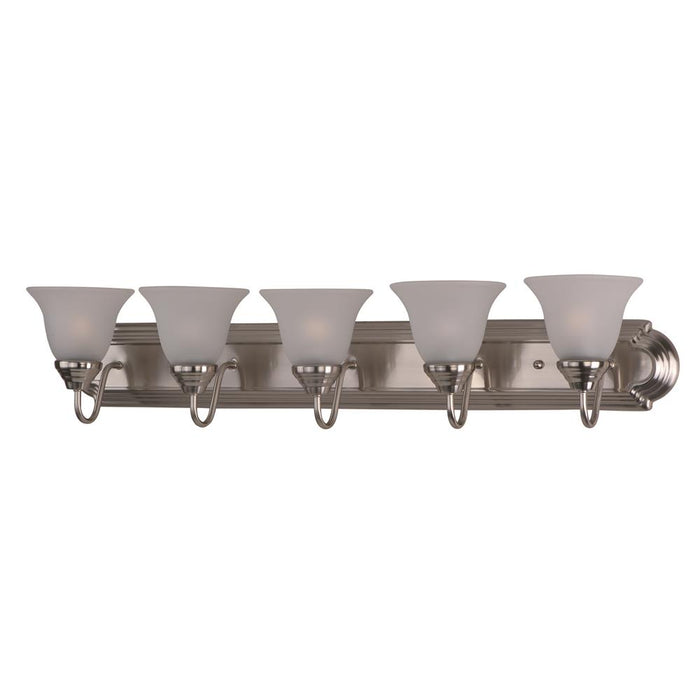 Maxim Lighting 8015FTSN Essentials 5-Light Bath Vanity in Satin Nickel