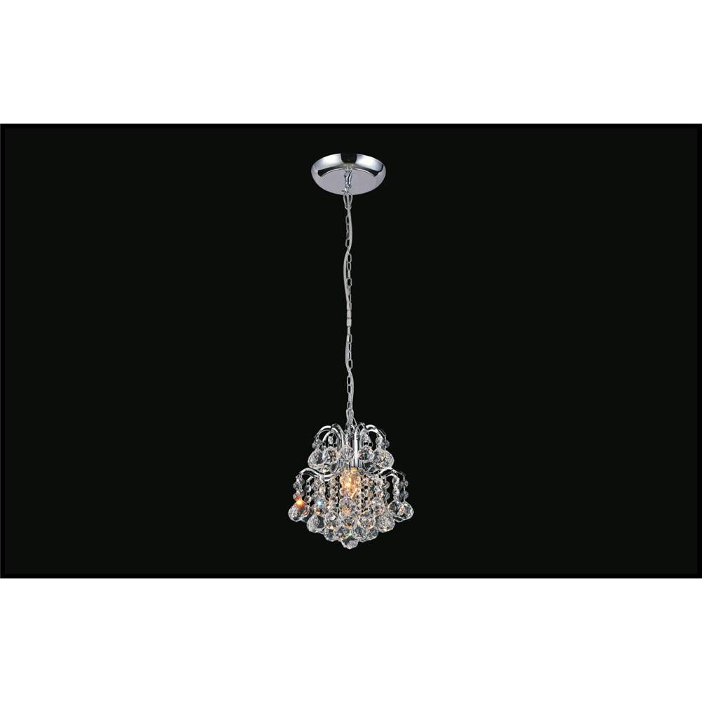 CWI Lighting 8015P9C-R Blossom 1 Light Mini Chandelier with Chrome finish