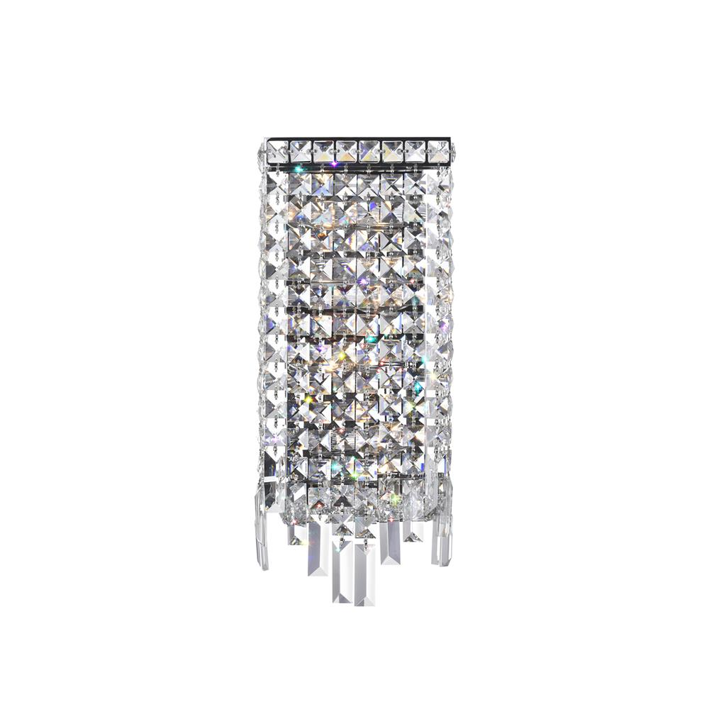 CWI Lighting 8031W7C Colosseum 4 Light Wall Sconce with Chrome finish