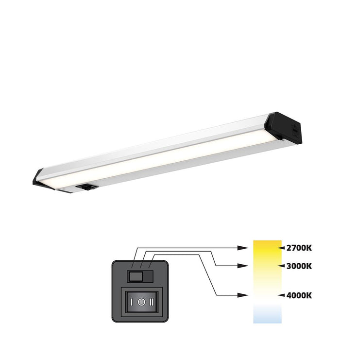 "Dals Lighting 9018CC 18"" LED CCT Linear, 8W, 560 Lumens, 27K-3K-4K,CRI90 - SN"
