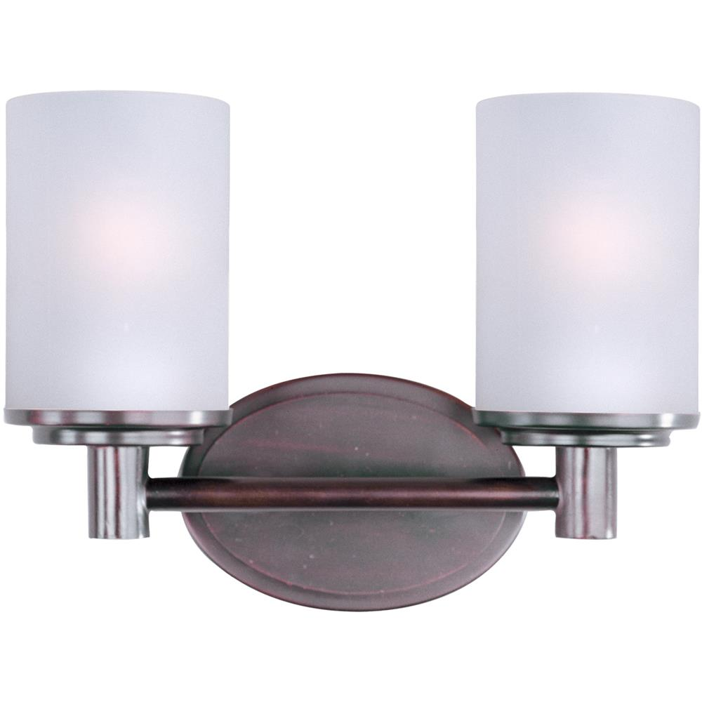 Maxim Lighting 9052SWOI Cylinder 2-Light Bath Vanity in Oil Rubbed Bronze