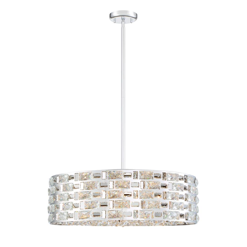 Z-Lite 912P24-CH Aludra 7 Light Pendant in Chrome
