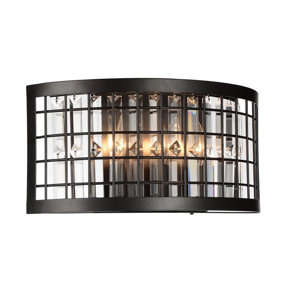 CWI Lighting 9697W16-3-192 Meghna 3 Light Wall Sconce with Brown finish