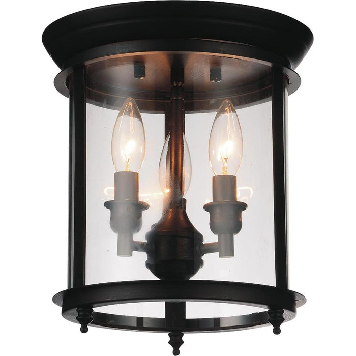 CWI Lighting 9809C10-3-109 Desire 3 Light Cage Flush Mount with Oil Rubbed Bronze finish