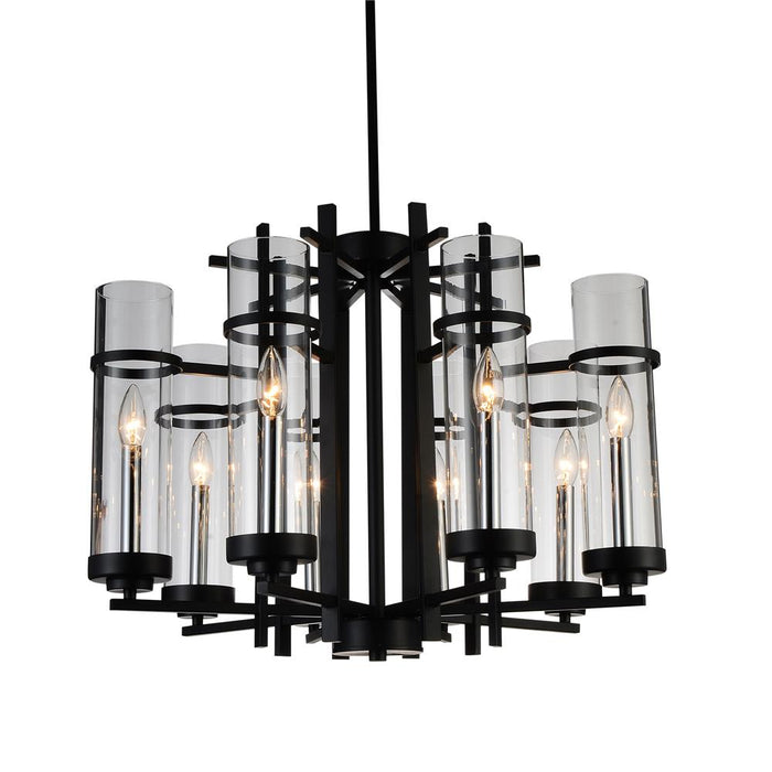 CWI Lighting 9827P26-8-101 Sierra 8 Light Up Chandelier with Black finish