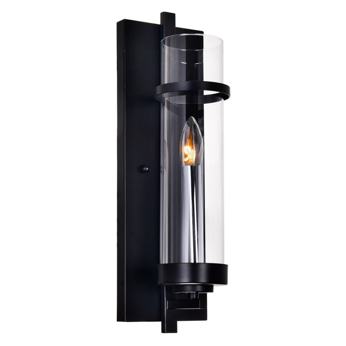 CWI Lighting 9827W5-1-101 Sierra 1 Light Wall Sconce with Black finish