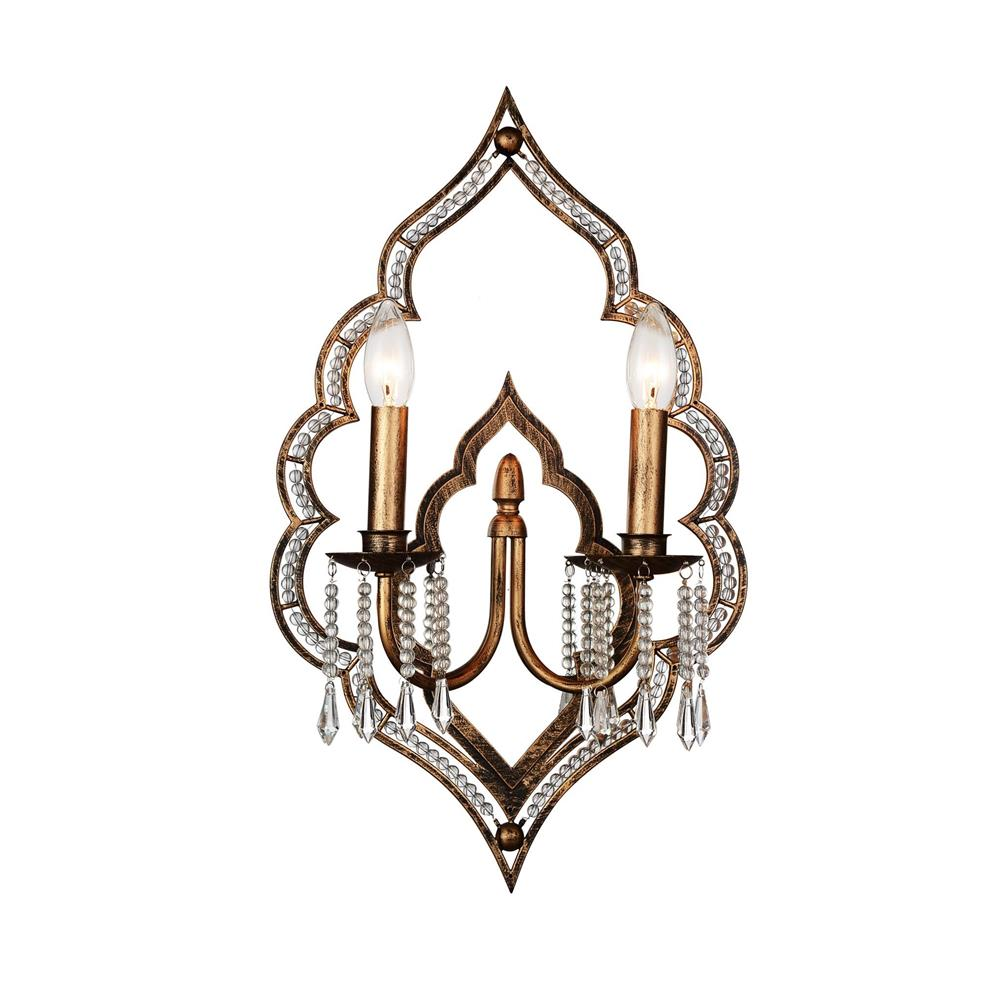 CWI Lighting 9853W14-2-195 Seine 2 Light Wall Sconce with Champagne finish