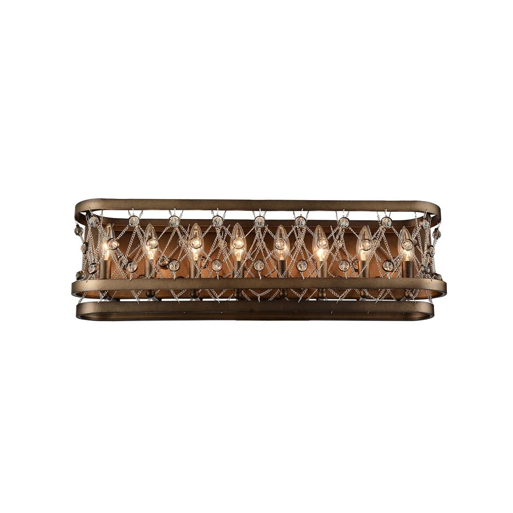 CWI Lighting 9907W28-8-206 Tieda 8 Light Wall Sconce with Speckled Bronze finish