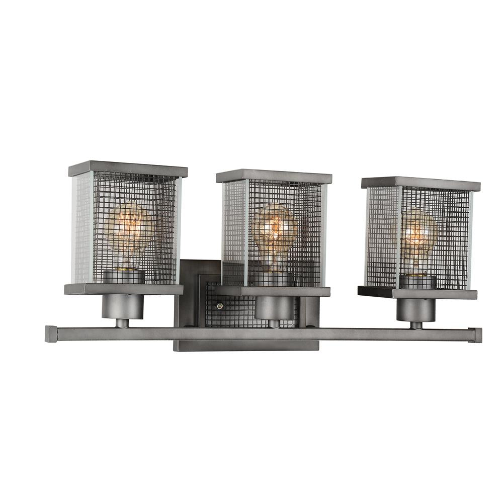 CWI Lighting 9920W22-3-214 Monroe 3 Light Wall Sconce with Black Silver finish