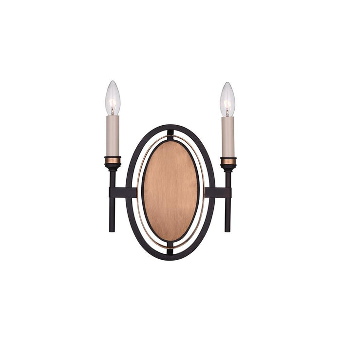 CWI Lighting 9927W10-2-218 Aurea 2 Light Wall Sconce with Golden Brown finish
