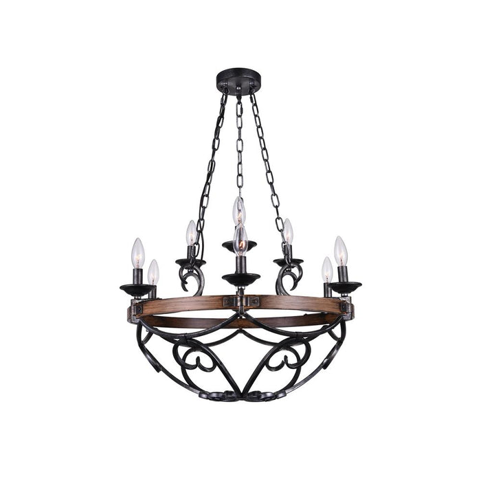 CWI Lighting 9940P25-9-243 Morden 9 Light Candle Chandelier with Gun Metal finish