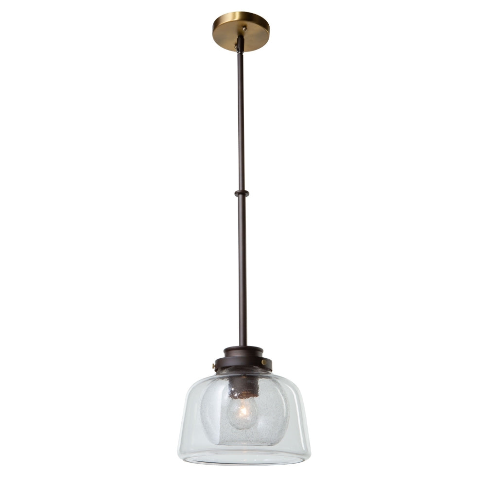 Artcraft Lighting AC10050OB Single 1 Light Pendant in Oil Rubbed Bronze & Brass