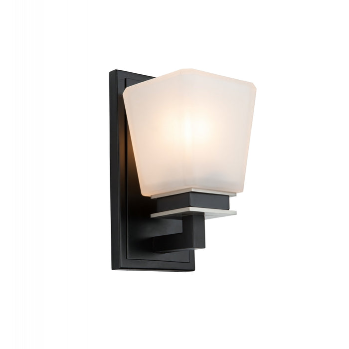 Artcraft Lighting AC11611BN Eastwood 1 Wall Light in Black & Brushed Nickel