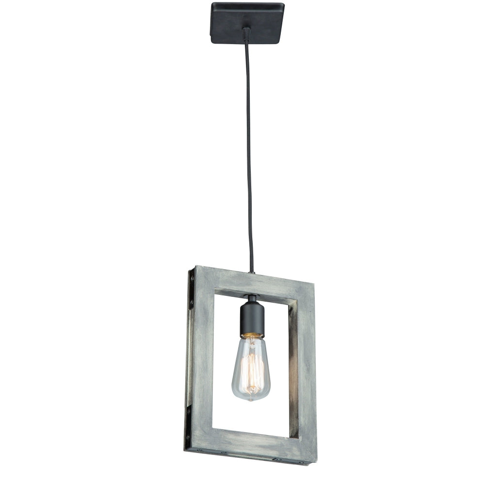 Artcraft Lighting AC11651BK Gatehouse 1 Light Pendant in Beach Wood & Black