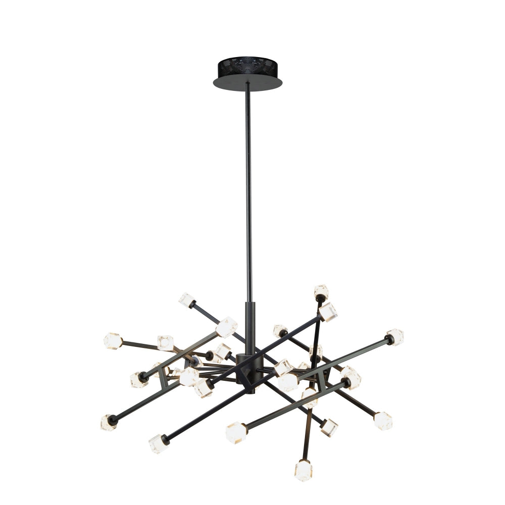 Artcraft Lighting AC6642BK Batton 30 Light Pendant in Black