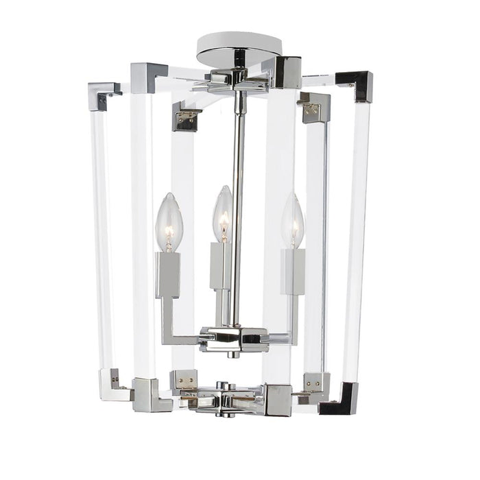 Dainolite ART-143P-PC Artico 3 Light Incandescent Pendant, Polished Chrome Finish with Clear Acrylic