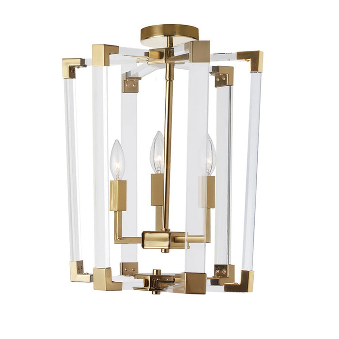 Dainolite ART-143P-VB Artico 3 Light Incandescent Pendant, Vintage Bronze Finish with Clear Acrylic