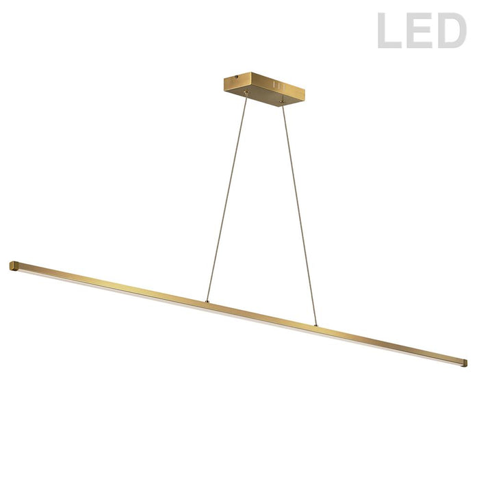 Dainolite ARY-4830LEDHP-AGB Array  30W LED Horizontal Pendant, Aged Brass with White Acrylic Diffuser