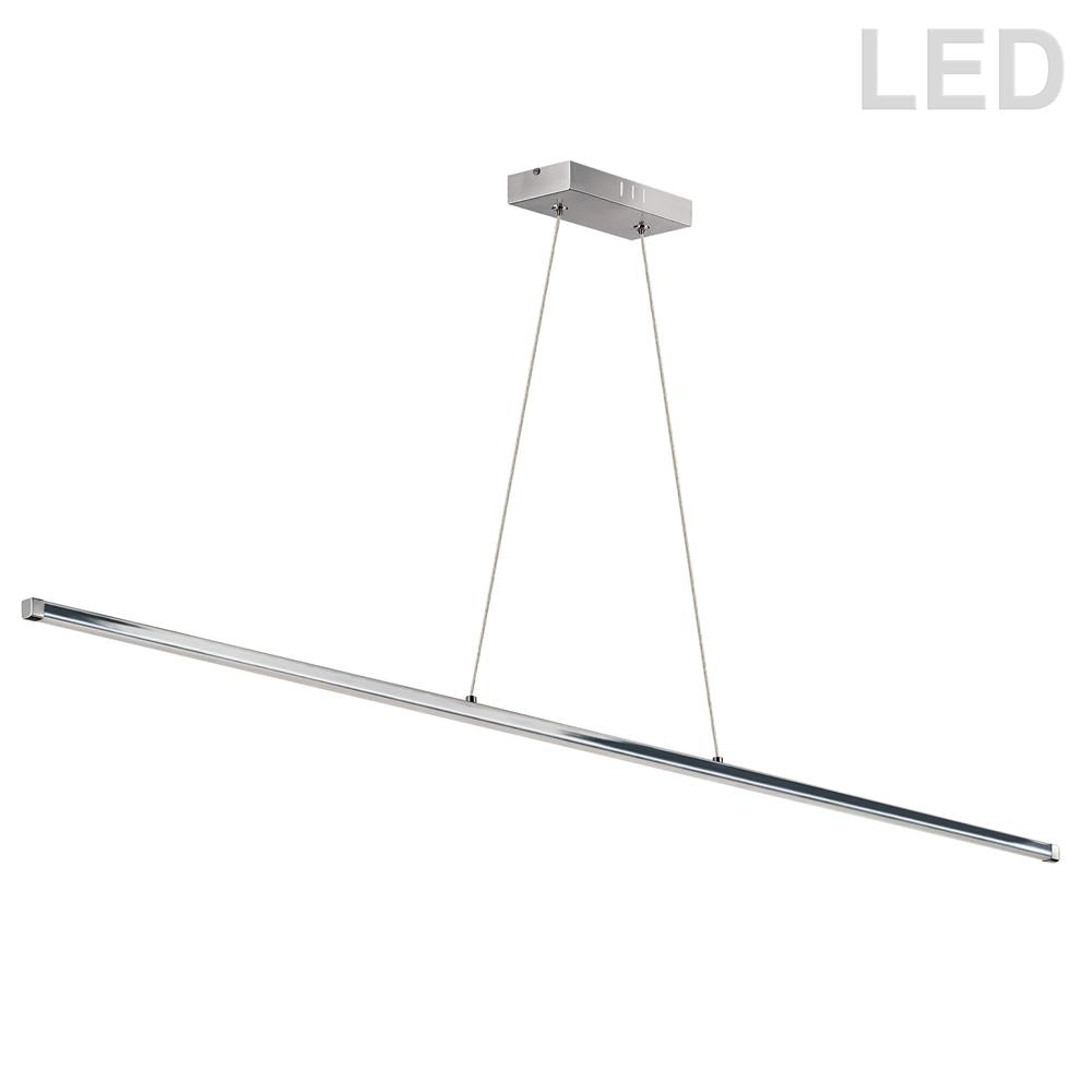 Dainolite ARY-4830LEDHP-PC Array  30W LED Horizontal Pendant, Polished Chrome with White Acrylic Diffuser