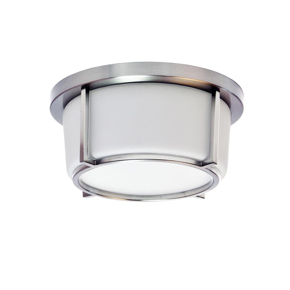 "Dainolite CFLED-B1011-PC 10"" LED Flush Mount, Polished Chrome Finish"
