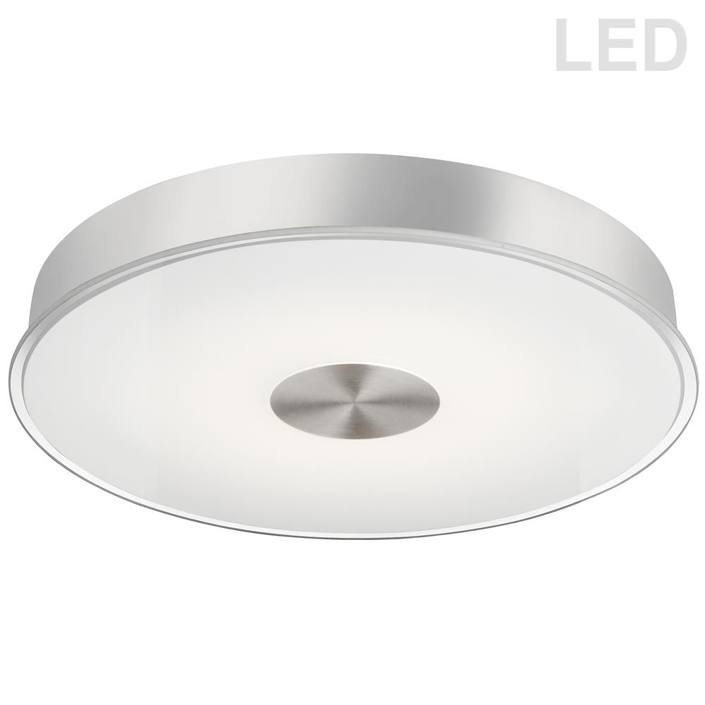 Dainolite CFLED-C1529-SC 29W LED Flush Mount Satin Chrome Finish Frosted with Clear Edge Glass
