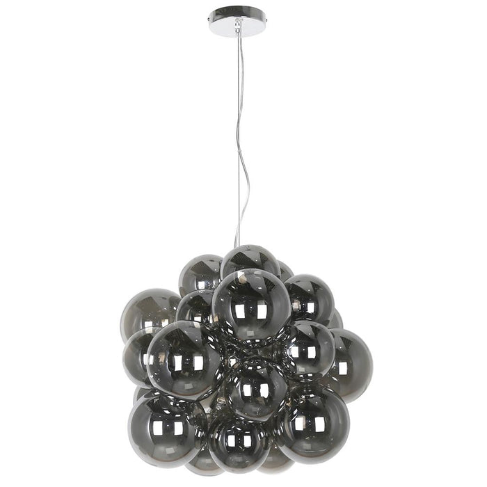 Dainolite CMT-206P-SM-PC Comet 6 Light Halogen Pendant Polished Chrome Finish with Smoked Glass