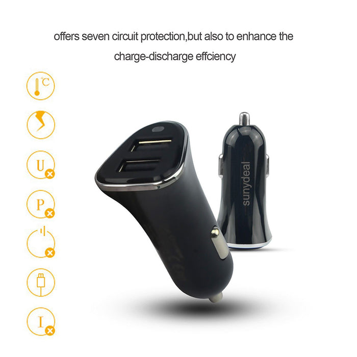 Dual USB 24W 4.8A Car Charger Fast Adaptive Charging for iPhone/Samsung Galaxy S8 S7 Universal Powerful Car Charger