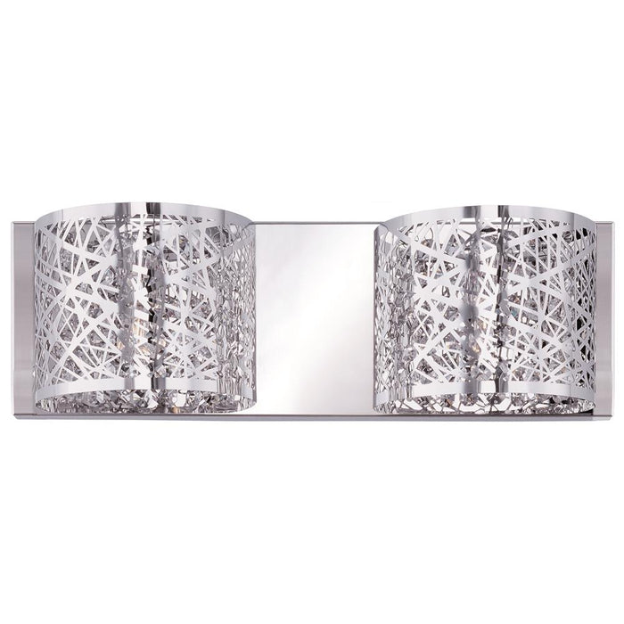 ET2 E21315-10PC Inca 2-Light Wall Mount in Polished Chrome