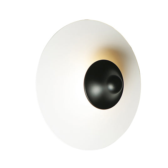 ET2 E21461-WTBK Radar LED 1-Light Wall Sconce in White / Black