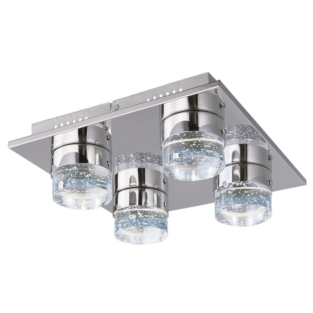 ET2 E22772-91PC Fizz IV 4-Light LED Flush Mount in Polished Chrome