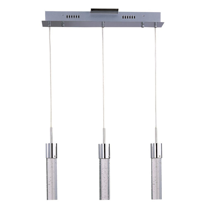 ET2 E22773-91PC Fizz IV 3-Light LED Pendant in Polished Chrome